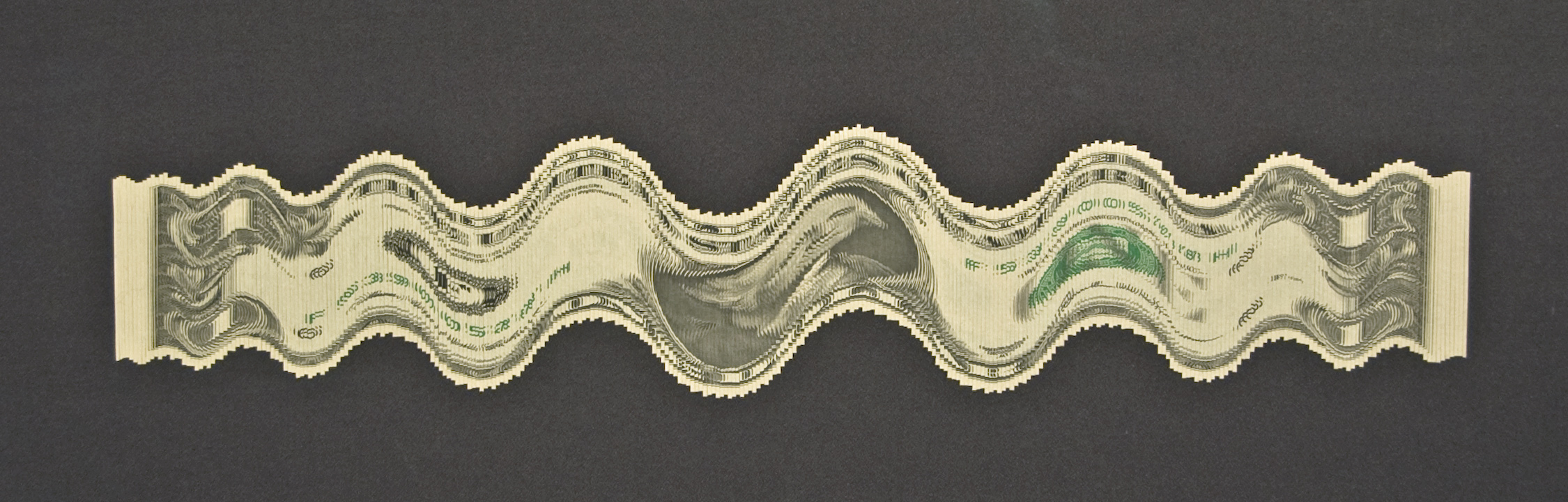 "Mark Wagner ""Fluctuation"" cut US Currency."