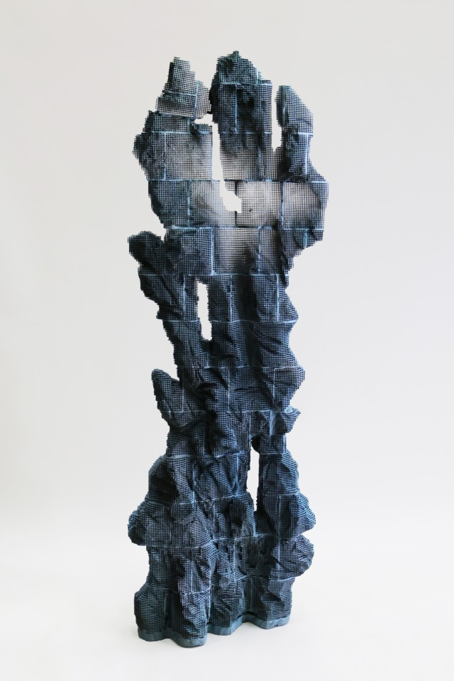"Randy Colosky, ""Ice 9 (revisited)"", 2014, engineered ceramic honeycomb and paint. Courtesy of Chandra Cerrito Contemporary."