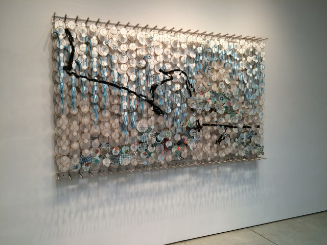 Jacob Hashimoto at Mary Boone Gallery.