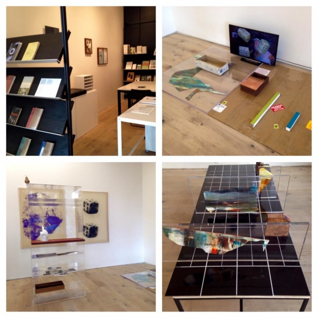 Benoit Maire's exhibition and bookstore.  Images courtesy of Kiria Koula.