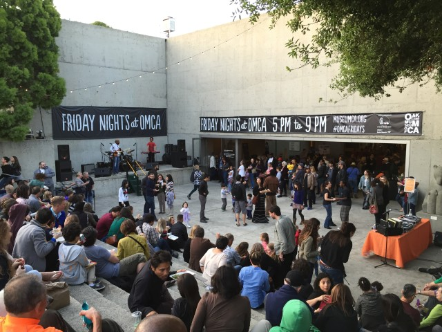 The scene at Friday Nights at OMCA