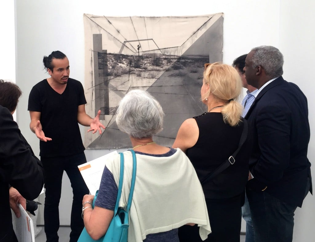 Rodrigo Valenzuela discusses his work on one of our VIP tours at Untitled, art.