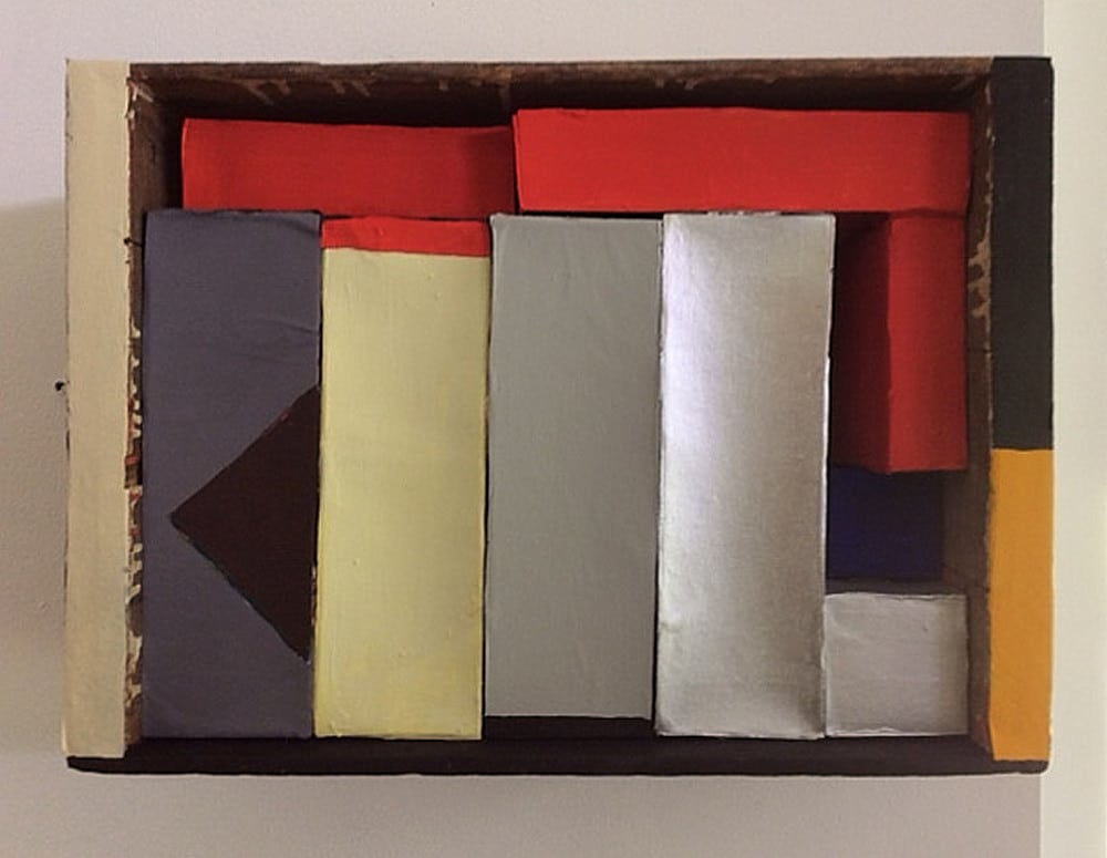 "Nancy Shaver ""Red, Yellow and Blue Boxes in a Box"" 2015"