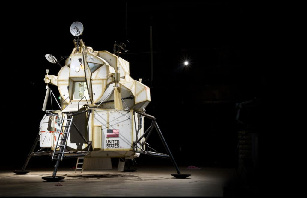"Tom Sachs ""Landing Exploration Module"" installation view. Image courtesy of the artist and YBCA."